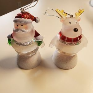 Other - Santa and Reindeer snow globe ornaments